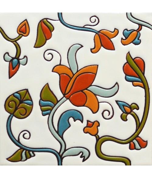 Плитка изразец Цветок 17*17 см