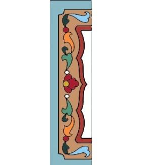 Боковина керамическая четвертинка  левая 002