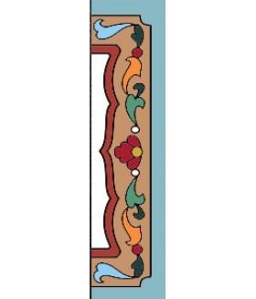 Боковина керамическая четвертинка  правая 002