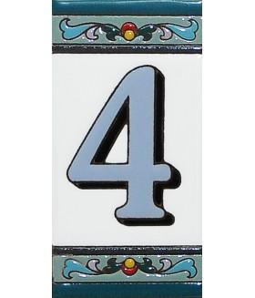 Цифра керамическая «4»