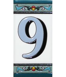 Цифра керамическая «9»