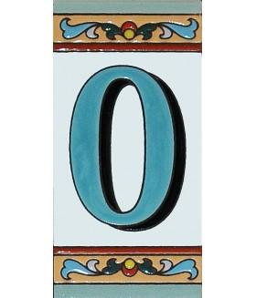 Цифра керамическая «0»