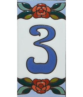 Цифра керамическая «3»