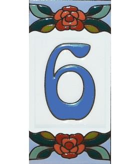 Цифра керамическая «6»