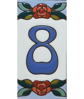 Цифра керамическая «8»
