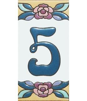 Цифра керамическая «5»