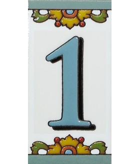 Цифра керамическая «1»