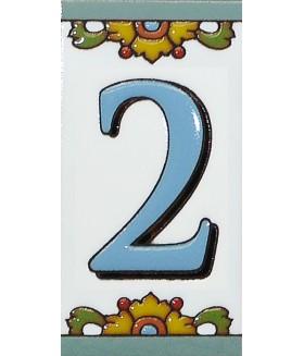 Цифра керамическая «2»