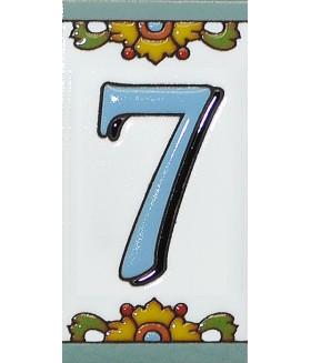Цифра керамическая «7»